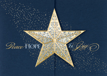 Gatefold Star Holiday Cards